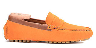 Ferguson Yellow suede and chestnut