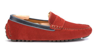 Ferguson Velvet Red suede and Navy Leather