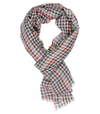 Woolen Scarf Blue and Red squares