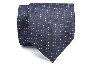 Dotted Silk Tie Petrol blue and pale blue