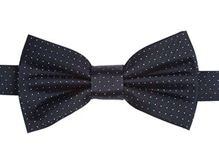 Dot Pattern Bow Tie Navy and Roy blue