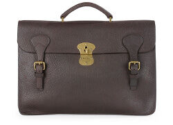 Document holder Chocolate grained Leather