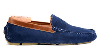 Seacrest II Petrol blue and chestnut suede