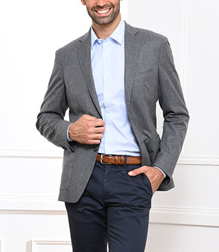 Blazer Léonard Light grey melange