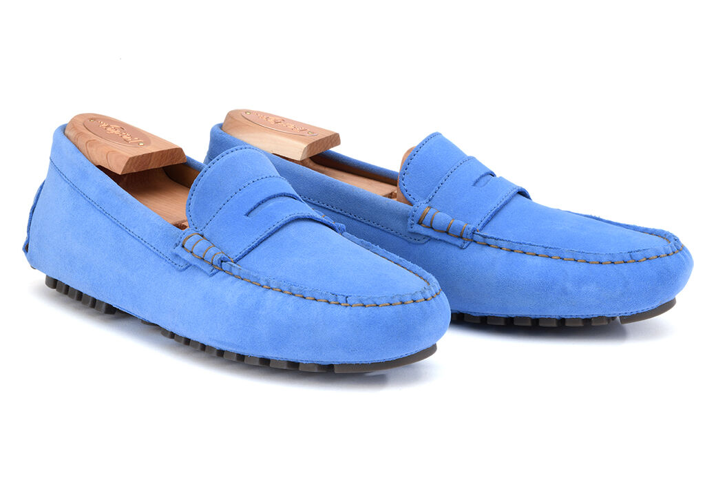 Ferguson Middle Blue Suede
