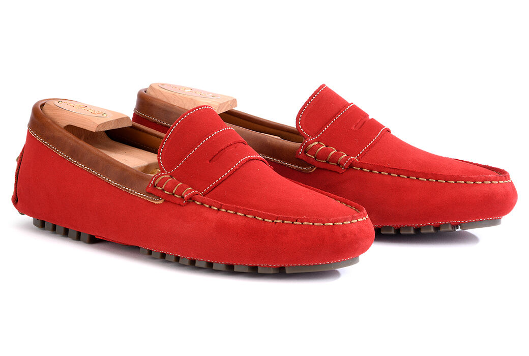 Ferguson Red and chestnut suede