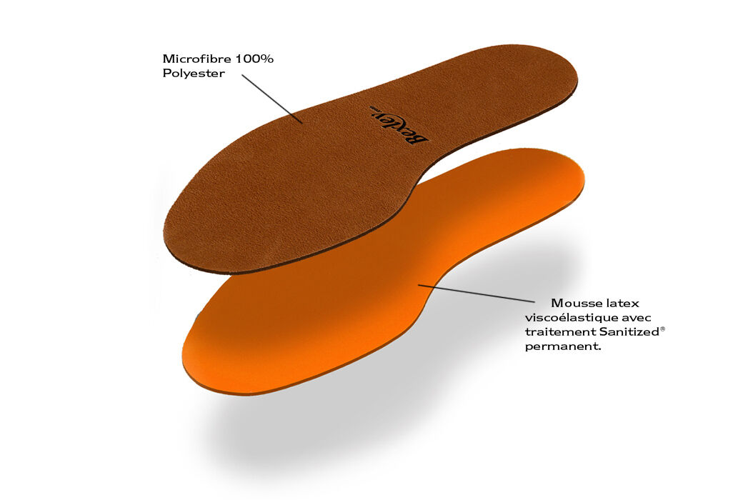 Comfort Latex Insole Orange