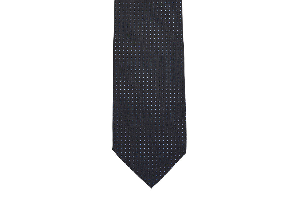 Dotted Silk Tie Navy and Roy blue