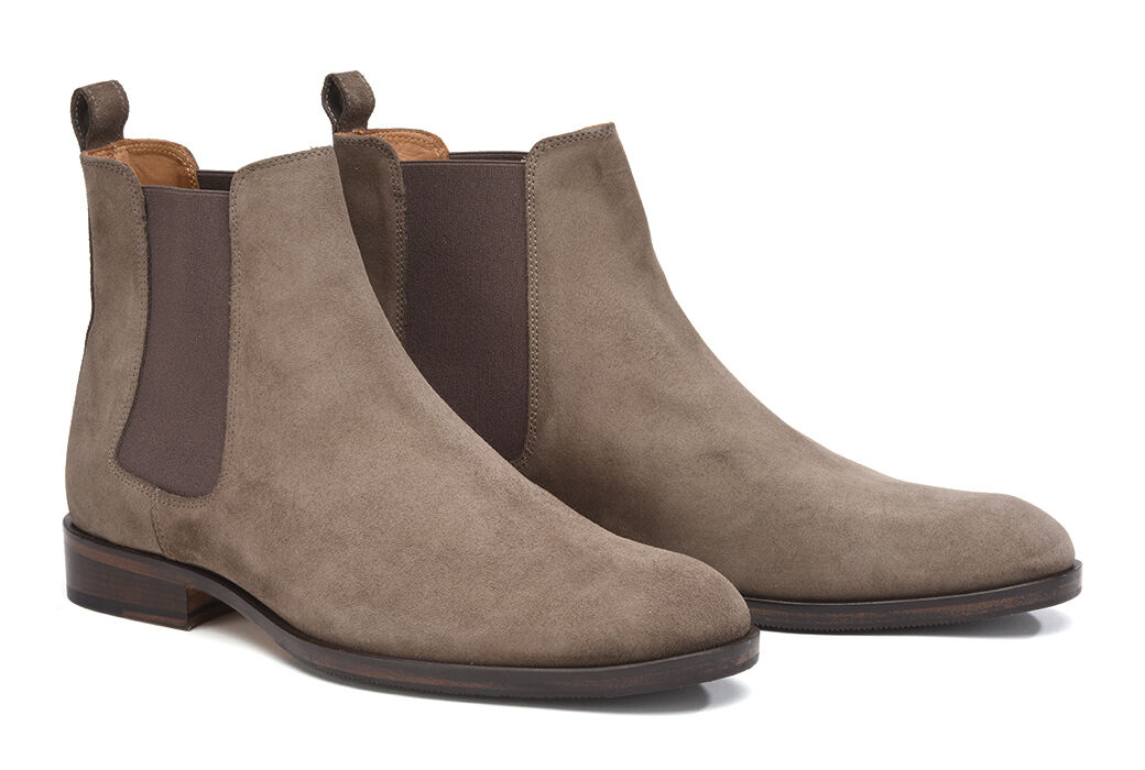 Dawson II Patin Light Taupe Suede