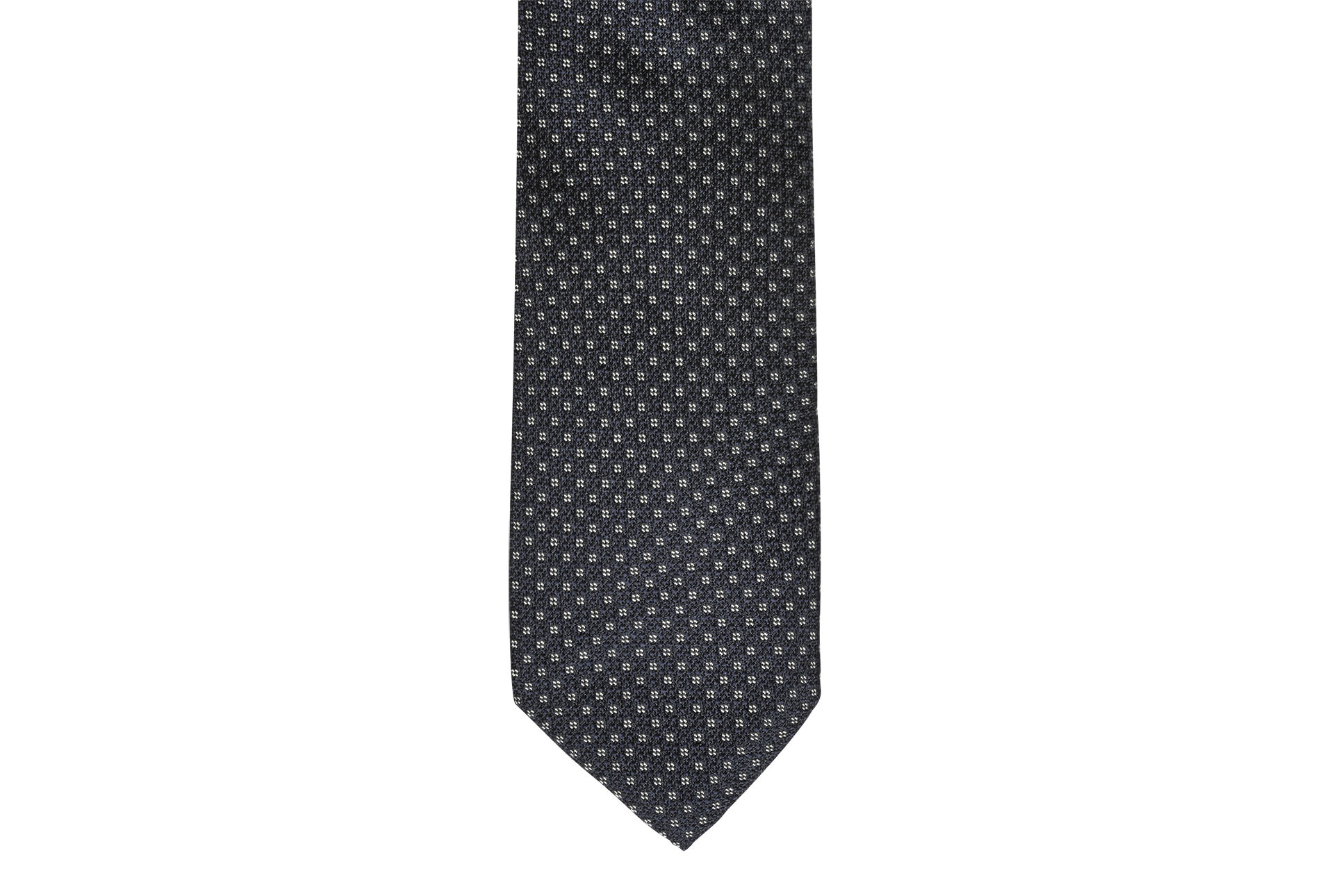 Squared Silk Tie navy and beige