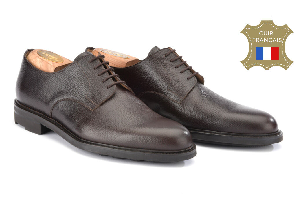 Dover Gomme Country Chocolate grained Leather