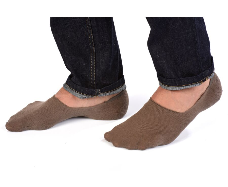Invisible Cotton Socks Taupe