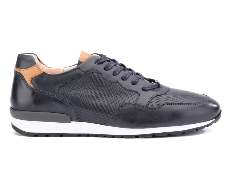 Canberra Navy leather