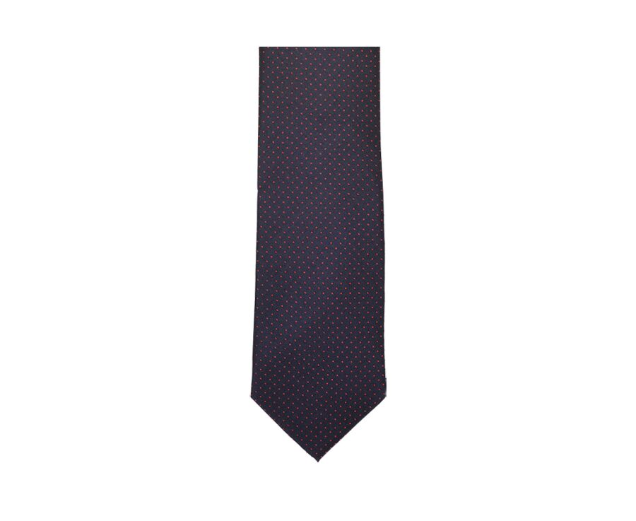 Dotted Silk Tie Navy and red