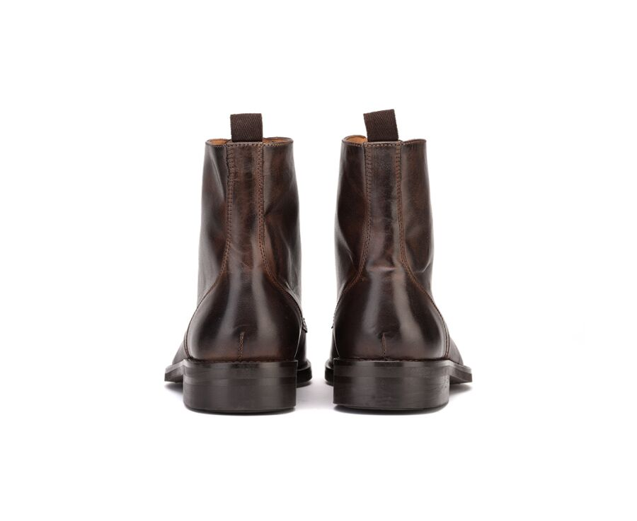 Enfield II Gomme Country Chocolat Patiné