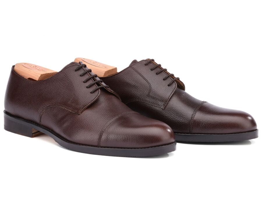 Mayfair classic Patin Chocolate grained Leather