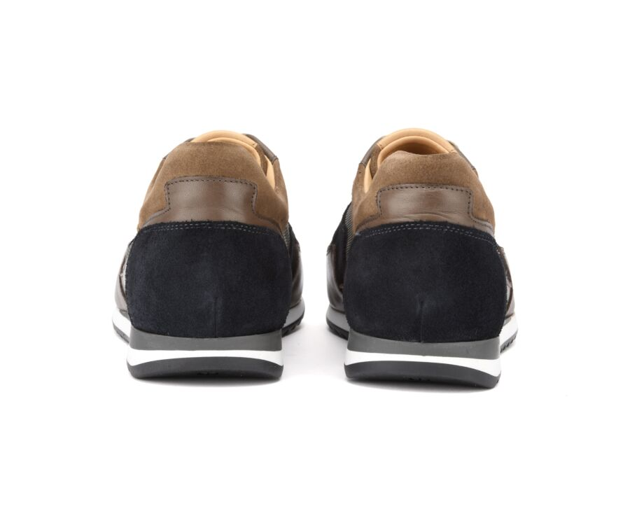 Corowa Brown and navy suede