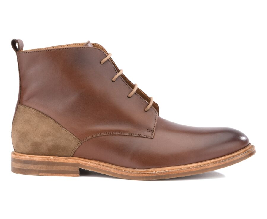 Kavington Gomme Patina brown and taupe suede