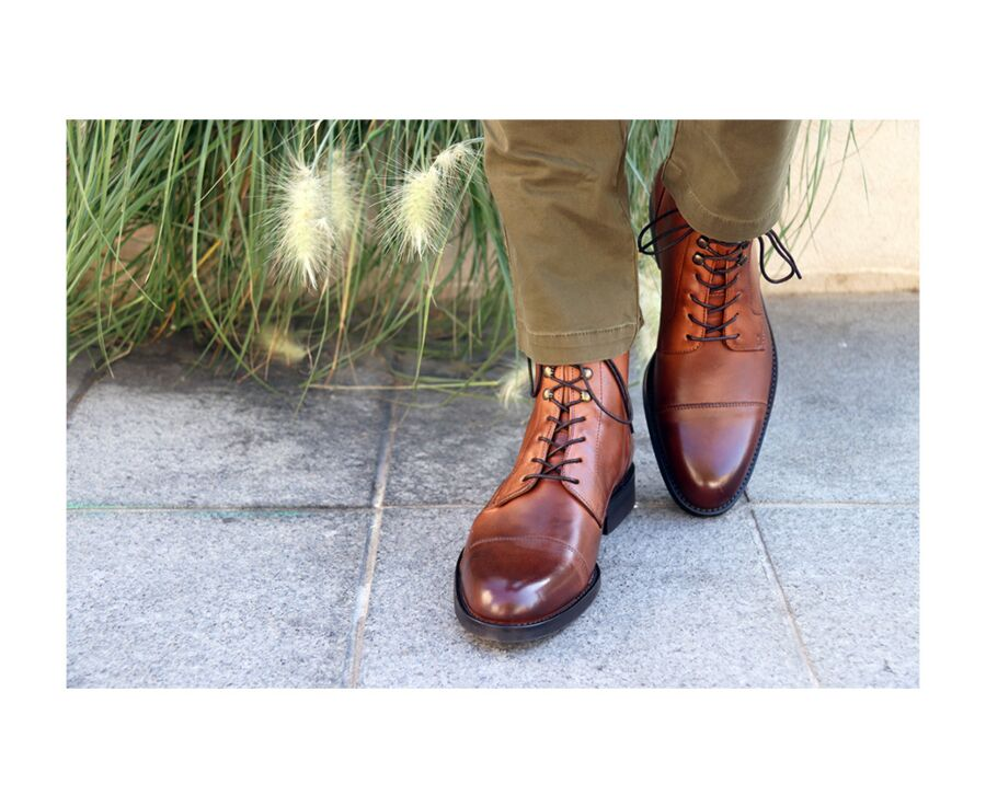 Enfield II Gomme city Patina Chestnut
