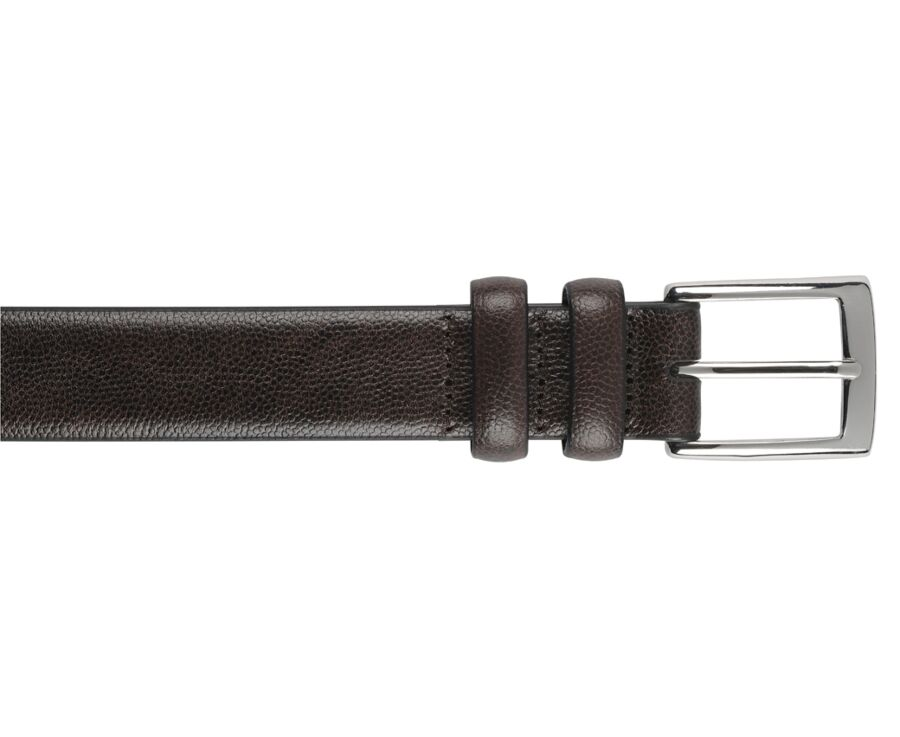 Ramsgate silver Chocolate grained Leather