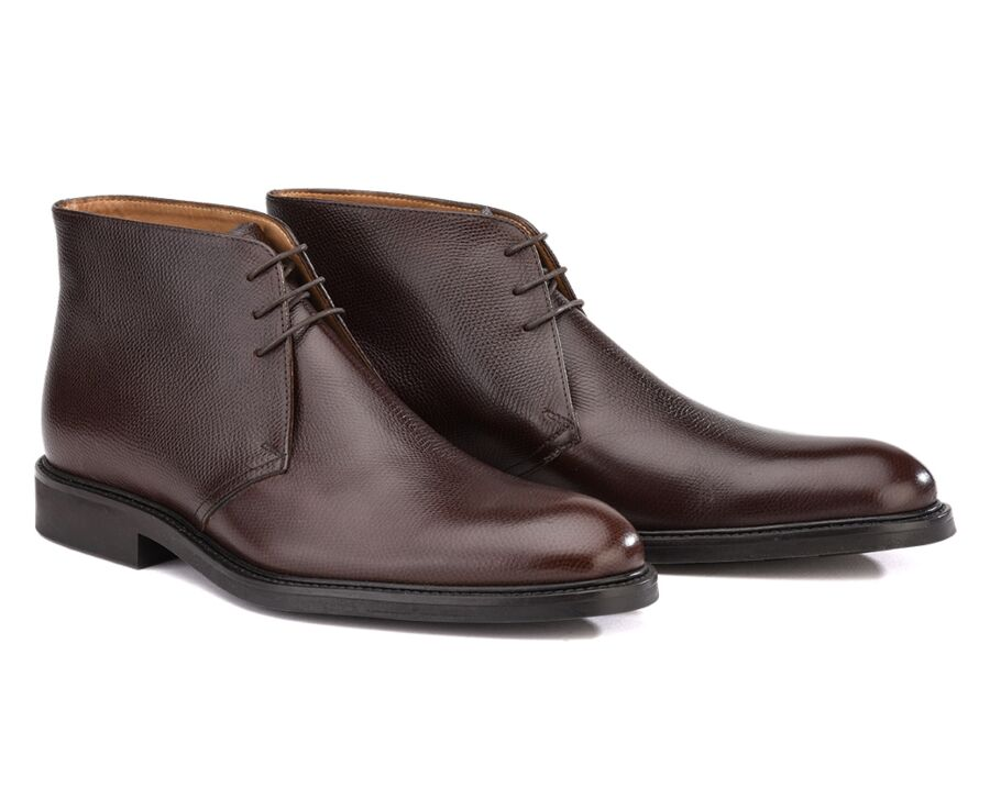 Greenwich Gomme City Chocolate grained Leather