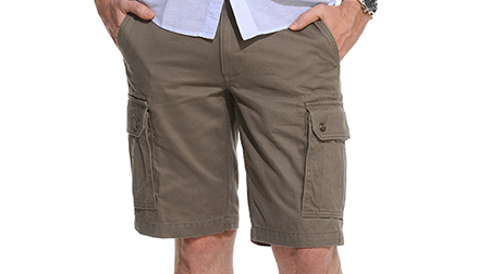 taille bermuda cargo homme
