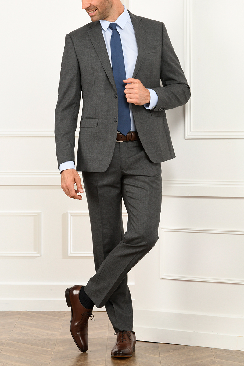 Lazare suit middle grey