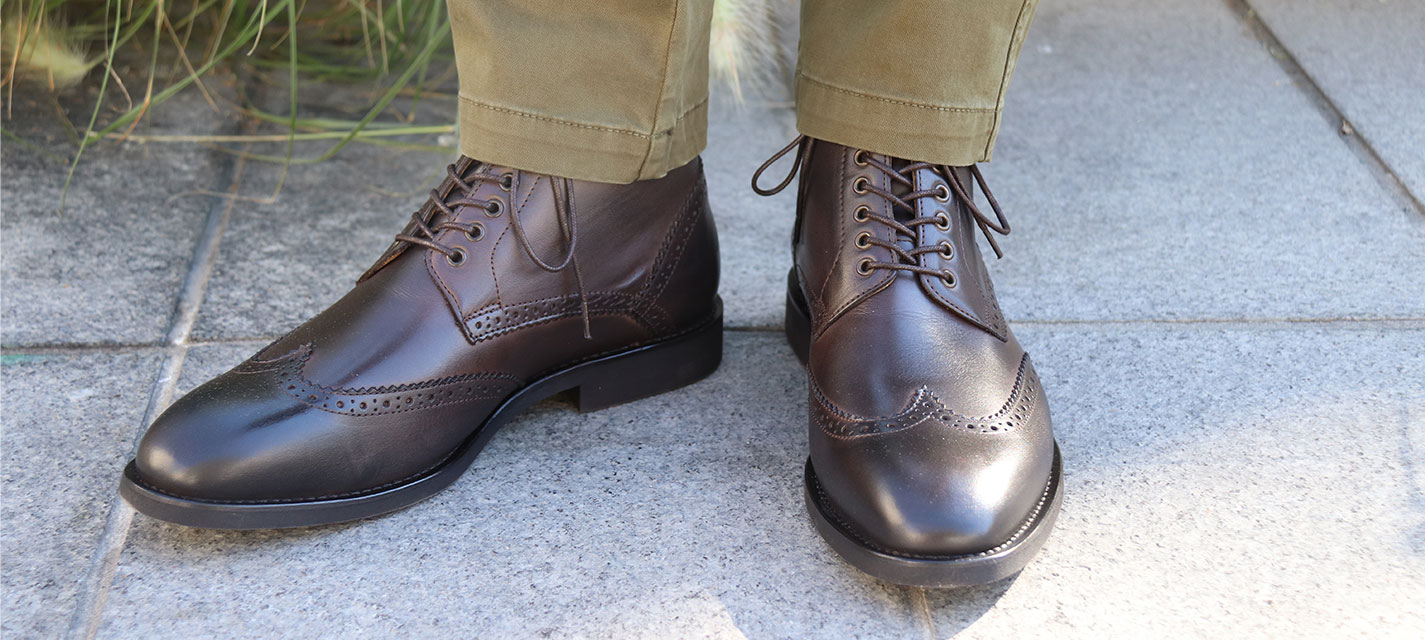Boots homme cuir