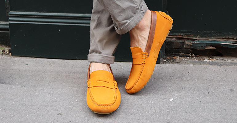 Driving shoes Ferguson Yellow suede